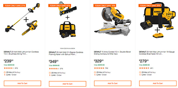 Home Depot Cyber Monday Dewalt Milwaukee Cordless Power Tool Deals Page 11