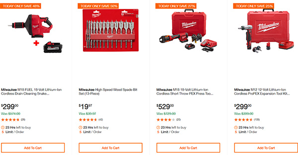 Home Depot Cyber Monday Dewalt Milwaukee Cordless Power Tool Deals Page 14