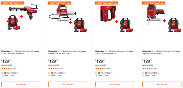 Home Depot Cyber Monday Dewalt Milwaukee Cordless Power Tool Deals Page 2