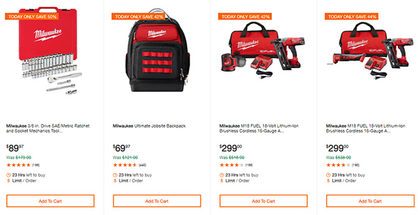Home Depot Cyber Monday Dewalt Milwaukee Cordless Power Tool Deals Page 3