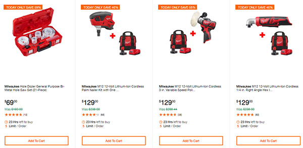 Home Depot Cyber Monday Dewalt Milwaukee Cordless Power Tool Deals Page 4