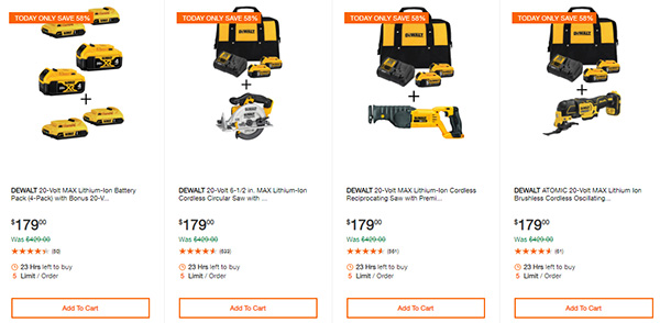 Home Depot Cyber Monday Dewalt Milwaukee Cordless Power Tool Deals Page 9