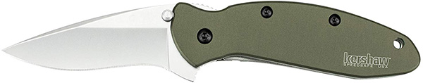 Kershaw Scallion Knife Green Handle