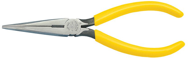 Klein Tools D203-7 Long Nose Side-Cutter Stripping Pliers