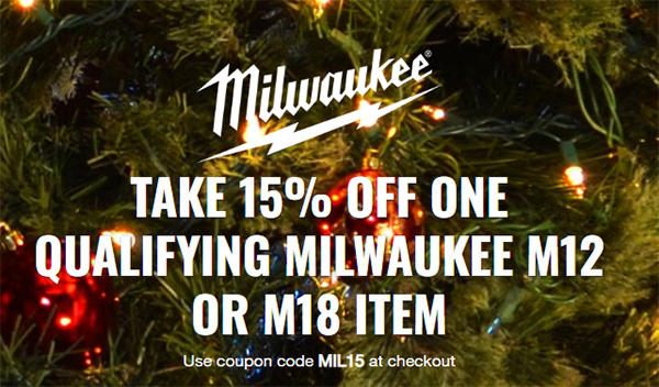 Milwaukee Cordless Power Tool Deal of the Day at CPO 12-13-19