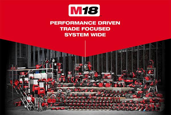 Milwaukee M18 Cordless Power Tool Family