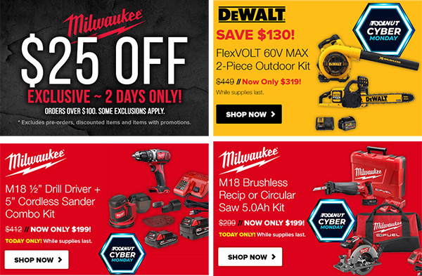 Tool Nut Cyber Monday 2019 Tool Deals Tiles