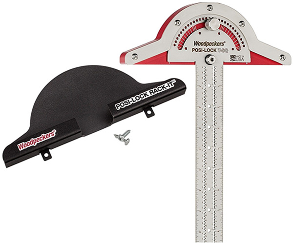 Woodpeckers Posi-Lock T-Square Protractor with Hang-It Mount
