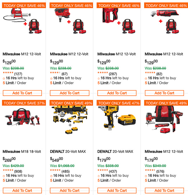 Dewalt Milwaukee Tool Deals of the Day 1-1-2020 Page 1