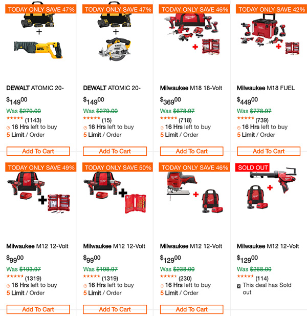 Dewalt Milwaukee Tool Deals of the Day 1-1-2020 Page 2