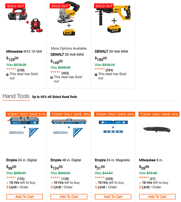 Dewalt Milwaukee Tool Deals of the Day 1-1-2020 Page 3