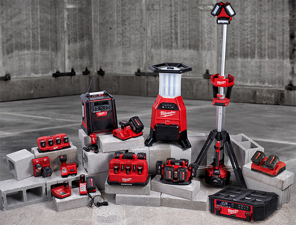 Milwaukee M12 and M18 Cordless Power Tool Battery Chargers
