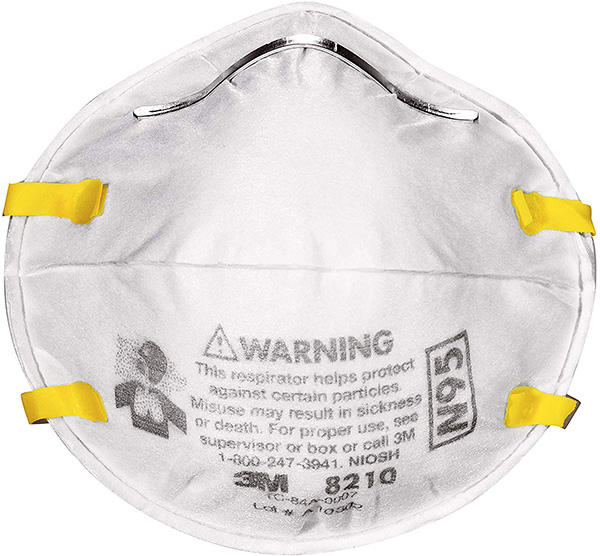 disposable respirator face mask