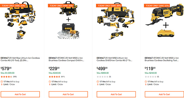Dewalt Cordless Power Tool Deals Day 2-17-20 Page 3