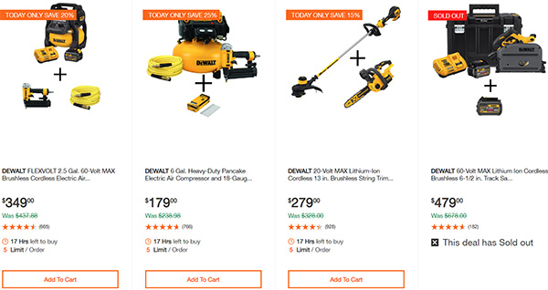 Dewalt Cordless Power Tool Deals Day 2-17-20 Page 6