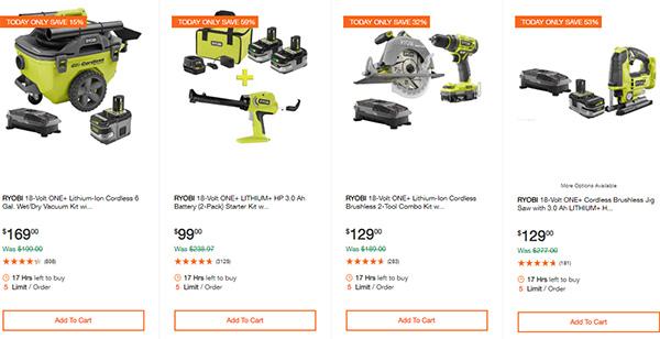 Home Depot Ridgid Ryobi Makita Cordless Power Tool Deals 2-14-20 Page 10