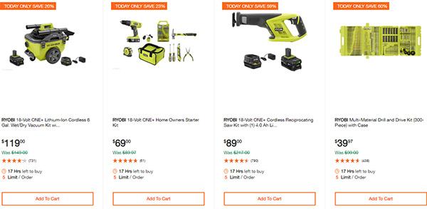 Home Depot Ridgid Ryobi Makita Cordless Power Tool Deals 2-14-20 Page 11