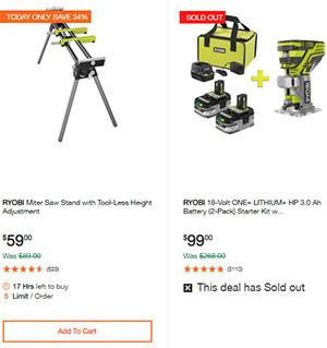 Home Depot Ridgid Ryobi Makita Cordless Power Tool Deals 2-14-20 Page 13