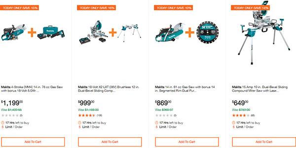 Home Depot Ridgid Ryobi Makita Cordless Power Tool Deals 2-14-20 Page 14