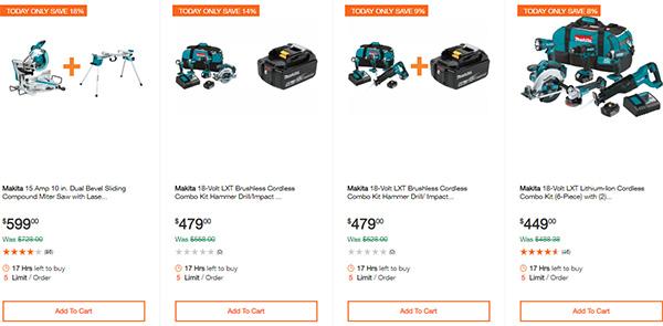 Home Depot Ridgid Ryobi Makita Cordless Power Tool Deals 2-14-20 Page 15