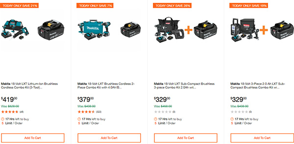 Home Depot Ridgid Ryobi Makita Cordless Power Tool Deals 2-14-20 Page 16