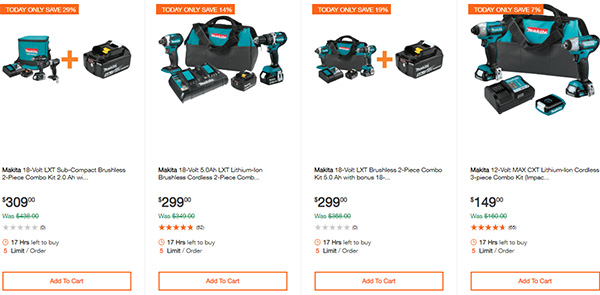 Home Depot Ridgid Ryobi Makita Cordless Power Tool Deals 2-14-20 Page 17