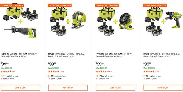 Home Depot Ridgid Ryobi Makita Cordless Power Tool Deals 2-14-20 Page 6