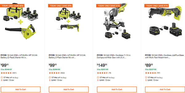 Home Depot Ridgid Ryobi Makita Cordless Power Tool Deals 2-14-20 Page 9