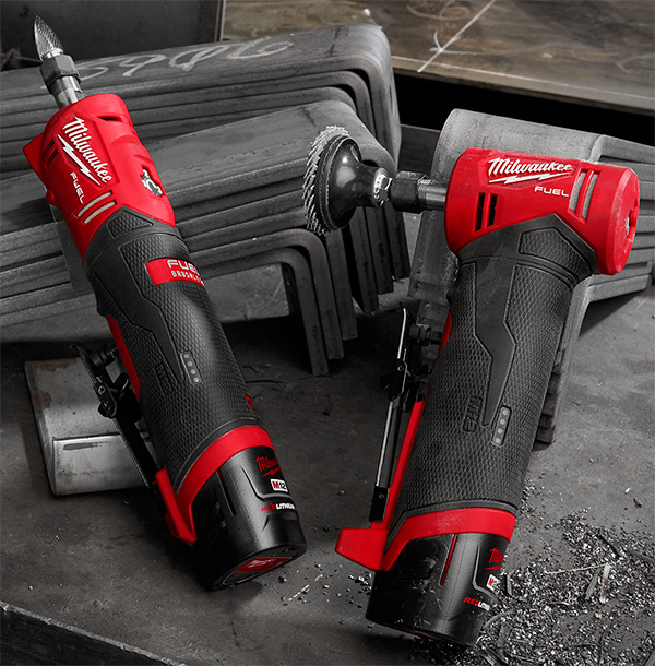 Milwaukee 2486 M12 Fuel Straight Die Grinder and Right Angle Die Grinder