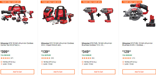 Milwaukee Cordless Power Tools Hand Tools Deal of the Day 2-24-20 Page 1