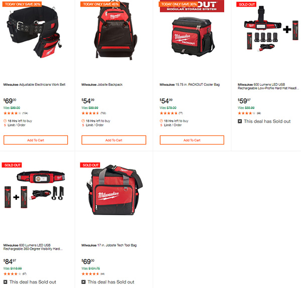 Milwaukee Cordless Power Tools Hand Tools Deal of the Day 2-24-20 Page 16