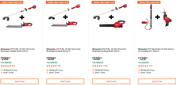 Milwaukee Cordless Power Tools Hand Tools Deal of the Day 2-24-20 Page 3