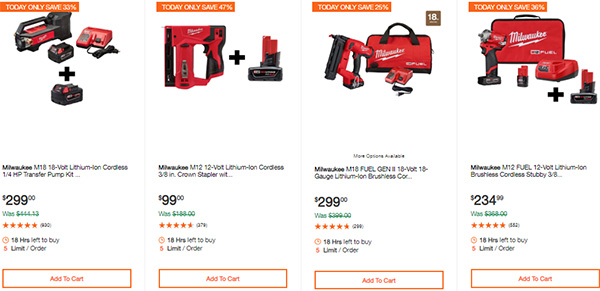 Milwaukee Cordless Power Tools Hand Tools Deal of the Day 2-24-20 Page 5