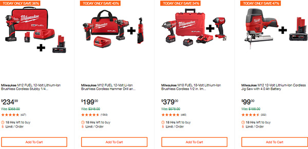 Milwaukee Cordless Power Tools Hand Tools Deal of the Day 2-24-20 Page 6