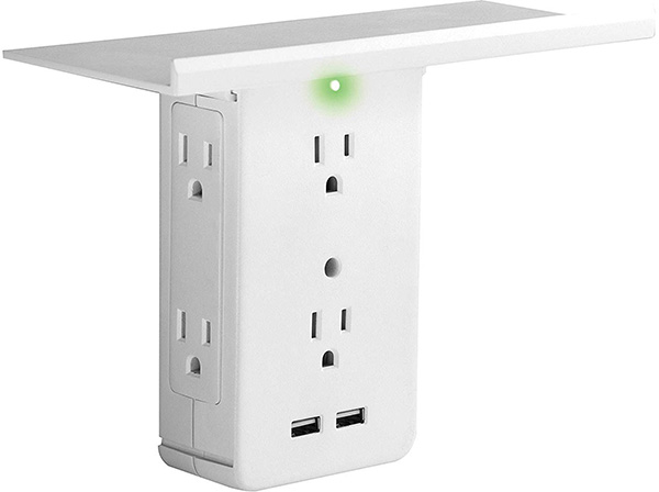 Socket Shelf Outlet Adapter Sharper Image