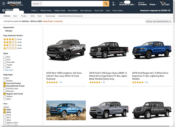 Amazon Car Shopping