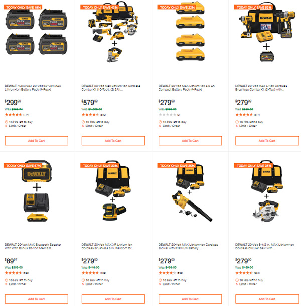 Dewalt Cordless Power Tools Deals of the Day 3-9-20 Page 1