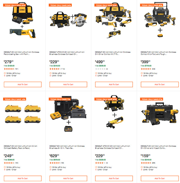 Dewalt Cordless Power Tools Deals of the Day 3-9-20 Page 2