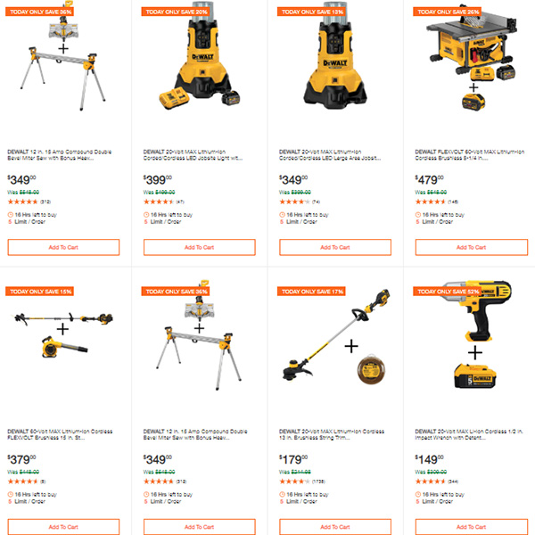 Dewalt Cordless Power Tools Deals of the Day 3-9-20 Page 4