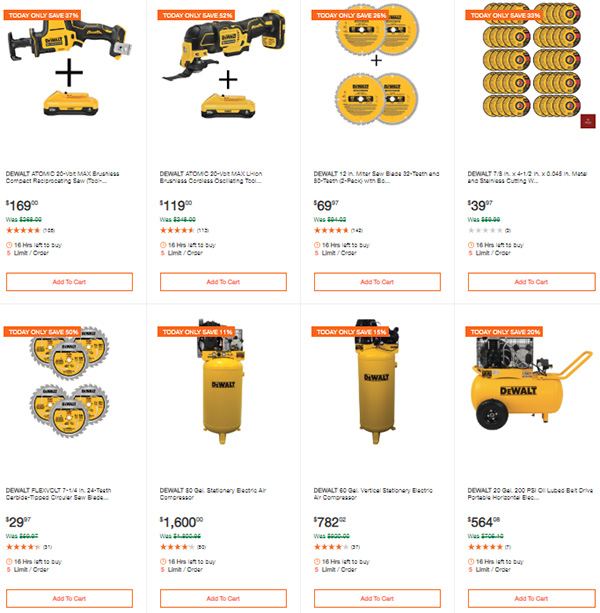 Dewalt Cordless Power Tools Deals of the Day 3-9-20 Page 5