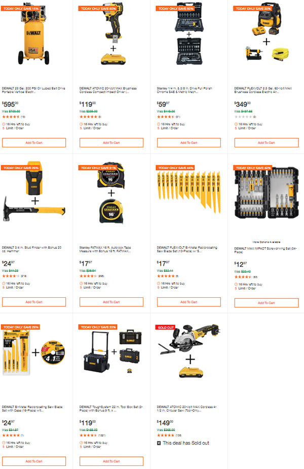Dewalt Cordless Power Tools Deals of the Day 3-9-20 Page 6