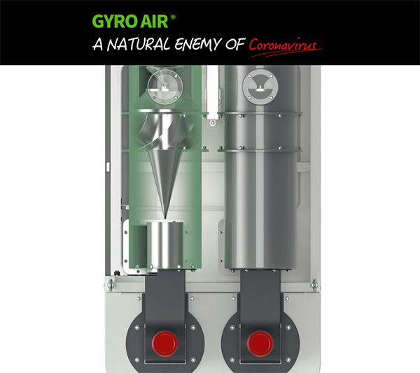 Gyro Air Dust Collector Coronavirus Marketing