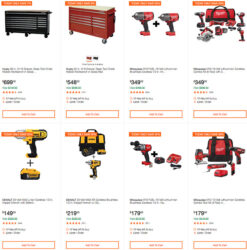 Home Depot Milwaukee Dewalt Ridgid Husky Tool Deals of the Day 3-22-20
