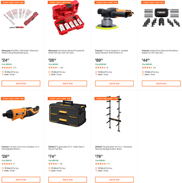 Home Depot Milwaukee Dewalt Ridgid Husky Tool Deals of the Day 3-22-20 Page 3
