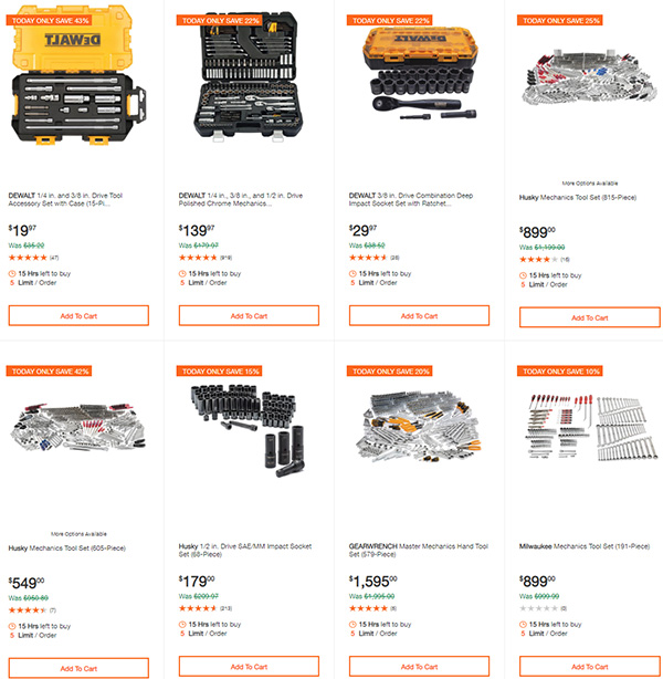 Home Depot Milwaukee Dewalt Ridgid Husky Tool Deals of the Day 3-22-20 Page 4