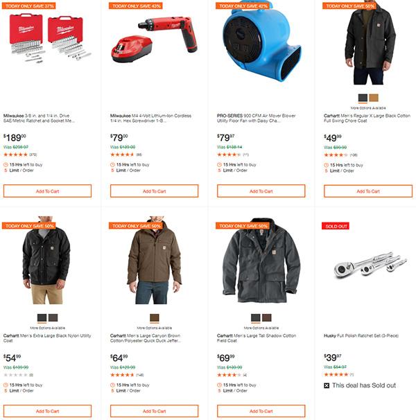 Home Depot Milwaukee Dewalt Ridgid Husky Tool Deals of the Day 3-22-20 Page 5