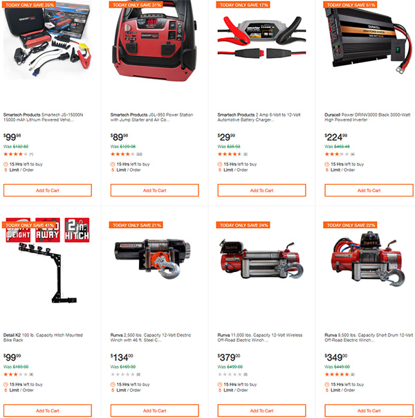 Home Depot Milwaukee Dewalt Ridgid Husky Tool Deals of the Day 3-22-20 Page 8
