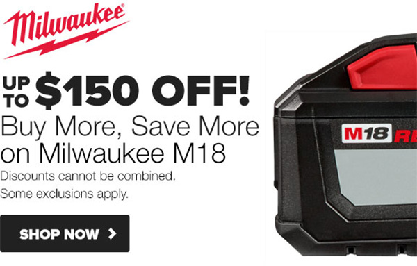 Milwaukee Buy More Save More Deal at Tool Nut Spring 2020