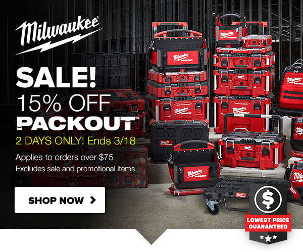 Milwaukee Packout Deal 3-18-20