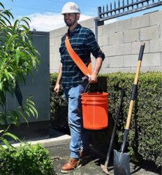 Bucket Buddy Sash in Use